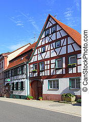 Street in Germany - Street and old houses in Germany