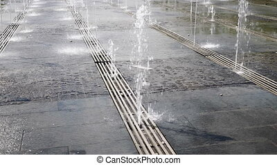 Top fountain water. FHD stock footage.