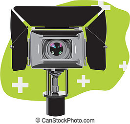 hd-camcorder - art illustration of stand high-definition...