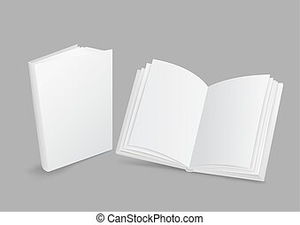 White book closed and open