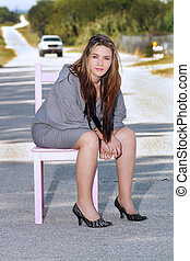 Teen Girl Sitting in a Chair (2)