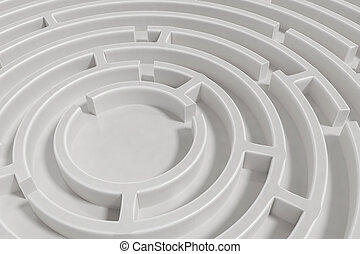 3D rendered illustration of maze.