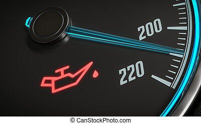 Oil and engine malfunction warning light control in car dashboar