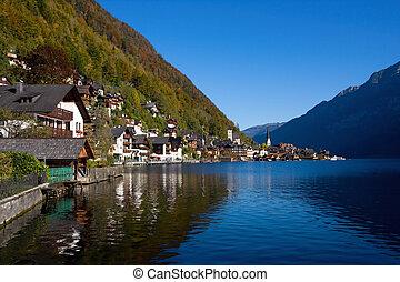 Beautiful Hallstatt in Austria - Hallstatt See lake district...