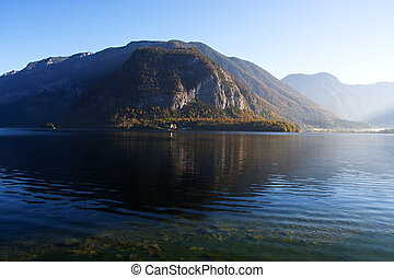 Mountain lake in Austria, Hallstattersee