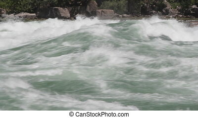 Niagara river rapids. Close. - Intense Class 6 white-water...