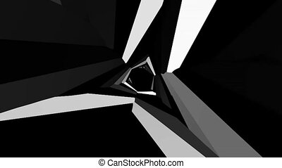 abstract black and white rotating background 1 - a computer...