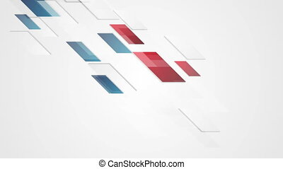 Bright red blue geometric corporate motion background -...