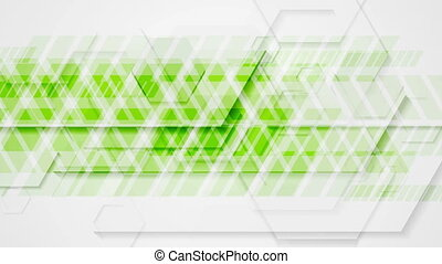 Bright green tech geometric abstract video animation