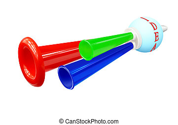 "Colorful whistle - Colored whistle with the words ""IDEA"" on..."