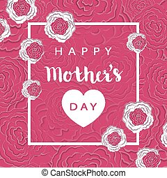 Mothers Day holiday greeting card