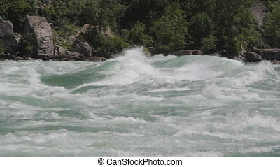 Niagara river rapids. Med. - Intense Class 6 white-water...