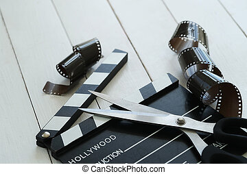 Cinematography - Director's cut board on a table