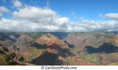 Waimea Canyon - Time lapse Clouds over Waimea Canyon, Kauai,...