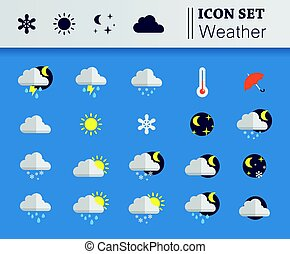 Icon set relating to weather