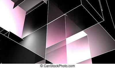 abstract cube background - a computer generated multicolored...