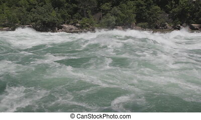 Niagara river rapids. Wide. - Intense Class 6 white-water...