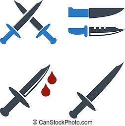 Cold Weapon Flat Icons