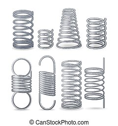 Spiral Flexible Wire. Springs Of Compression, Tension And...