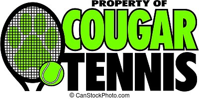 cougar tennis - property of cougar tennis team design with...