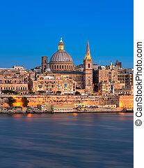 Valletta in the Evening, Malta