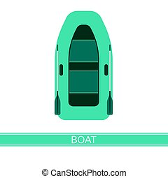 Inflatable Boat Icon - Inflatable boat vector icon, with...