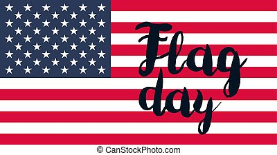 American Flag Day Banner and usa design elements. Vector