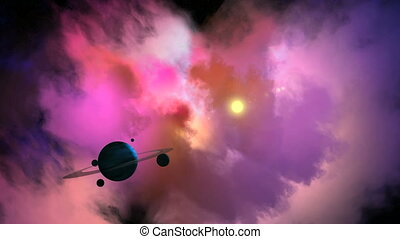 Solar System with Gas Giant Planet - Gas Giant Planet with...