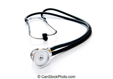 Medical stethoscope isolated on the white background