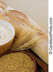 pão, trigo, trigo, germe, demonstrar, trigo,...