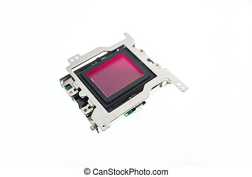 CMOS sensor for digital camera isolated on white