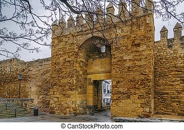 cidade, parede, Espanha,  Cordoba
