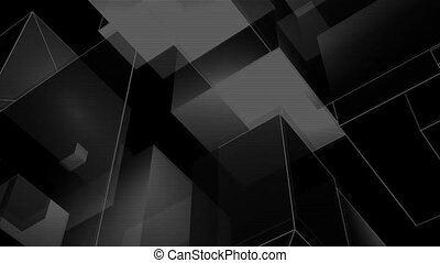 cubic room 1 - a computer generated black and white...