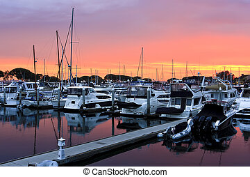 Sunset on the San Diego Harbour