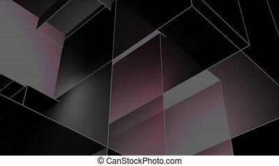 cubic room 3 - a computer generated multicolored background,...