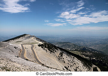 Mont Ventoux - Mountain top of the Mont Ventoux in the...