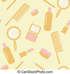 background with cosmetics