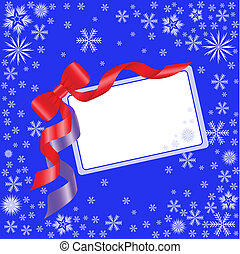 Blue card with a bow