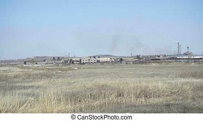 Industrial landscape in Kazakhstan