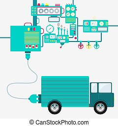 Factory and electric truck