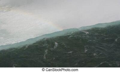 The edge of Niagara Falls. - Brink of Niagara Falls on the...