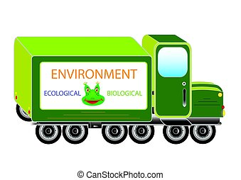 Green environment working car - Template recycle working...