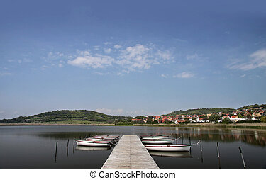 Lake Balaton in Tihany - Landscape near Lake Balaton at...