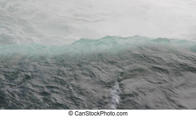Edge of Niagara Falls Closeup - Brink of Niagara Falls on...