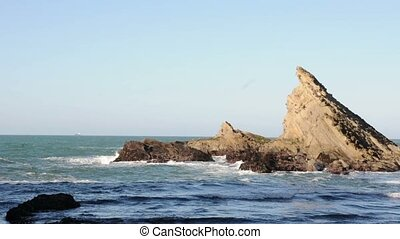 Sea Cliff on the beach - This is a large sea rock on the...