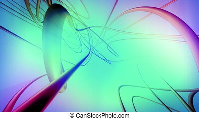 Flowing VJ abstract CG looping animated wisps background -...