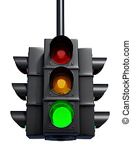 Semaphore - Traffic light - this is a 3d render illustration