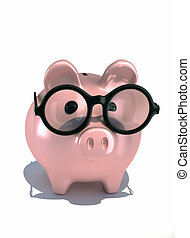 Piggy bank - this is a 3d render illustration