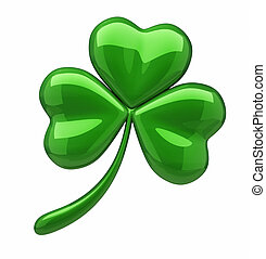 Clover with three leafs - this is a 3d render illustration