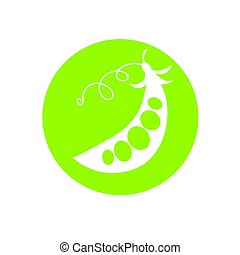 Peas green cartoon vector illustration - Peas green flat...